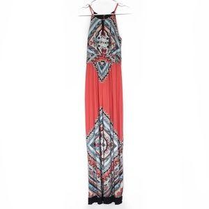Valerie Bertinelli Pink Medallion Print Maxi Dress